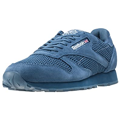 a147d10626b47 Reebok Classic Leather Knit Mens Trainers Blue - 11 UK  Amazon.co.uk ...