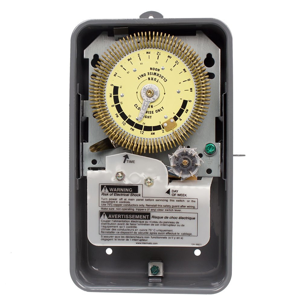 Intermatic, Inc. Intermatic T1975EHDR Heavy Duty Industrial Mechanical Time Switch, Outdoor Enclosure, 480VAC, 60Hz
