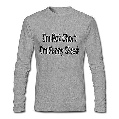 5e49785b8 Amazon.com: I'm NOT Long I'm Funny Sized Long Sleeve T Shirt Men: Clothing