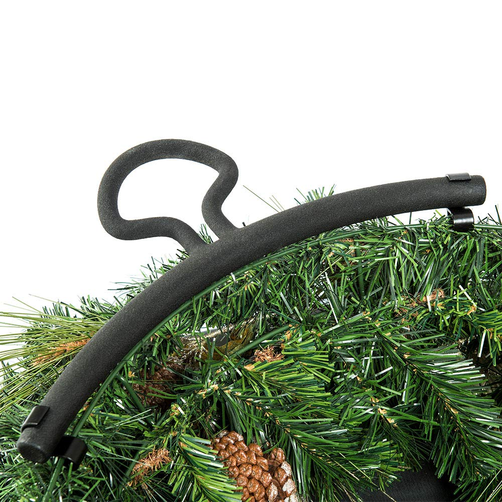 24-Inch Tree Keeper Bag Hooks Directly to Your Wire Wreath Frames to Prevent Sagging and Deformed Wreaths 24 Inch Wreath Storage Container - for Christmas Wreath up to 24 Inches in Diameter