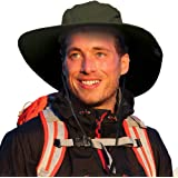 Sun Blocker Unisex Outdoor Safari Sun Hat Wide Brim Boonie Cap with Adjustable Drawstring for Camping Hiking Fishing Hunting Boating