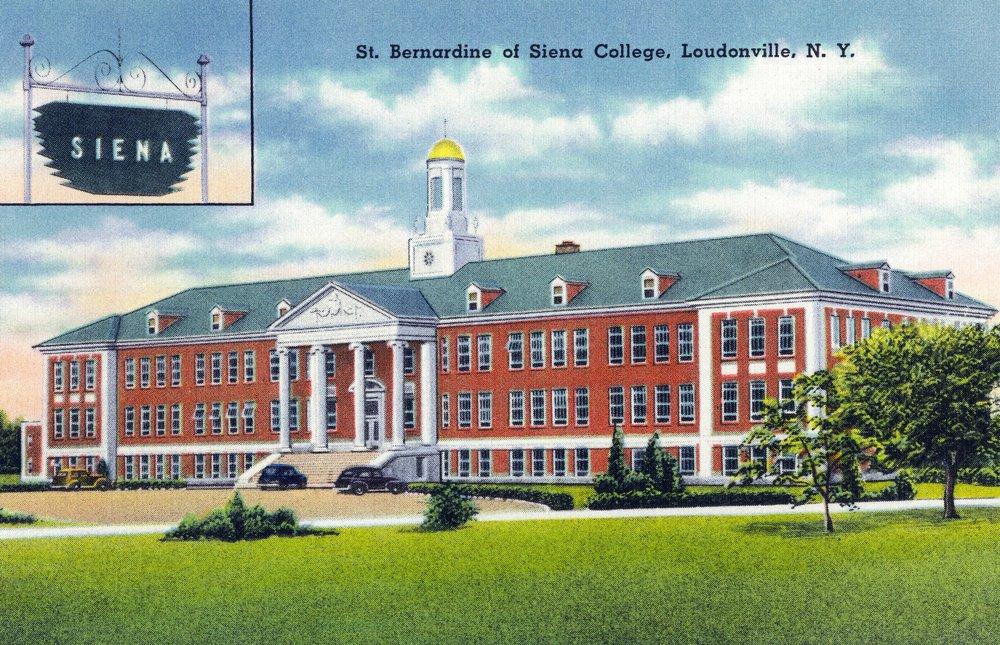 Loudonville, New York - Exterior View of St. Bernardine of Siena College (12x18 Art Print, Wall Decor Travel Poster)