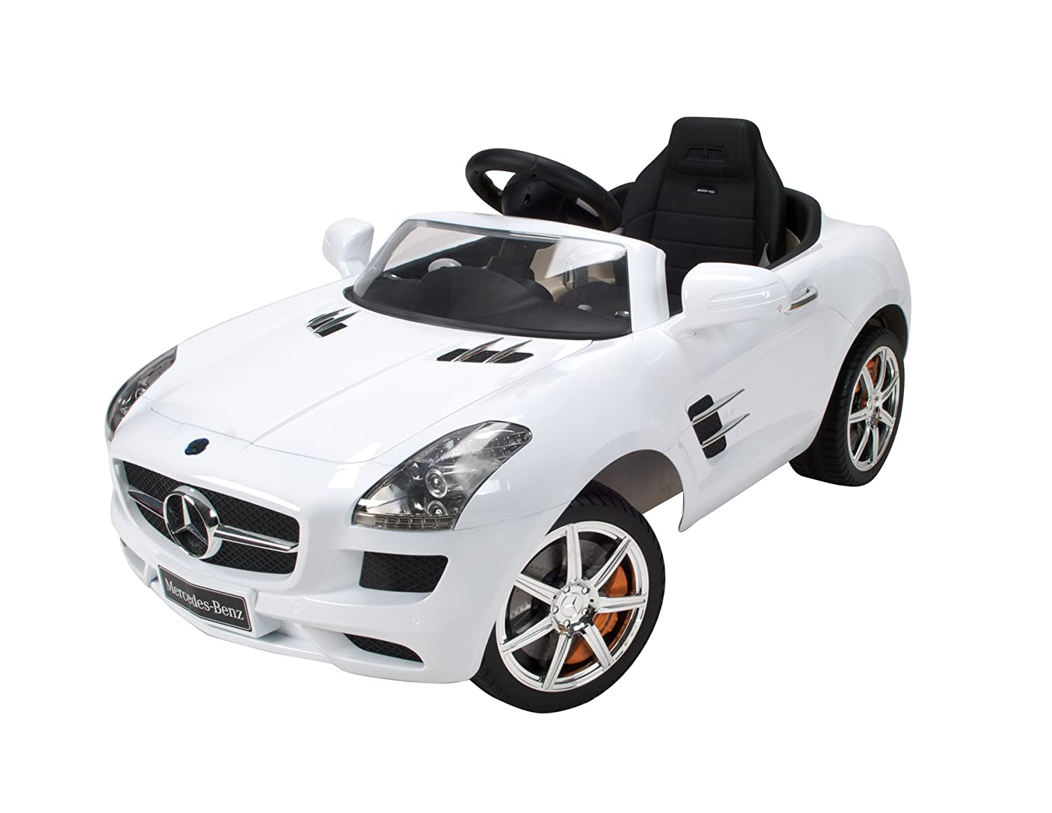 amazoncom mercedes benz sls amg convertible electric 6v ride on by huffy ages 3 sports outdoors