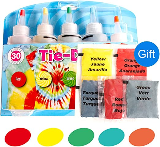 Kit de tinte tie-dye para algodón y lino de 3 colores #1: Amazon ...