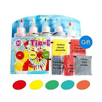 grandes ofertas garantía de alta calidad nueva colección Kit de 5 colores para teñir corbatas de ropa de algodón y ...