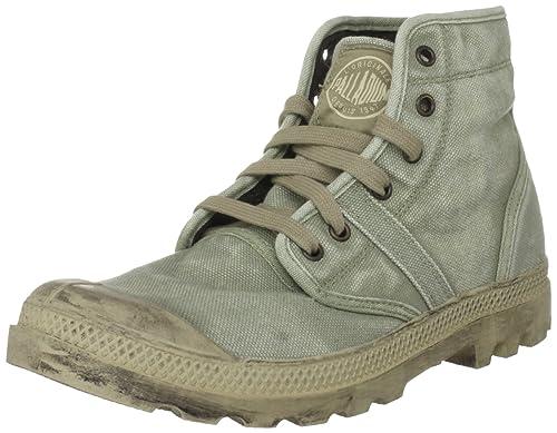 Palladium Pallabrouse Zapatos de lona, Hombre, Verde (Dk. Khaki/Putty), 41.5