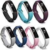 Pinhen Fitbit Alta HR and Alta Strap Band Soft Adjustable Silicone Replacement Band Accessory with Secure Watch Clasps for Fitbit Alta and Alta HR