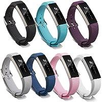 Pinhen Fitbit Alta HR en Alta Strap Band Zachte Verstelbare Siliconen Vervanging Band Accessoire met Secure Horloge…