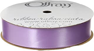 "product image for Offray Singleface Satin 7/8"" 20 yd Light Orchid Ribbon, 7/8 Inch x 20 Yard"