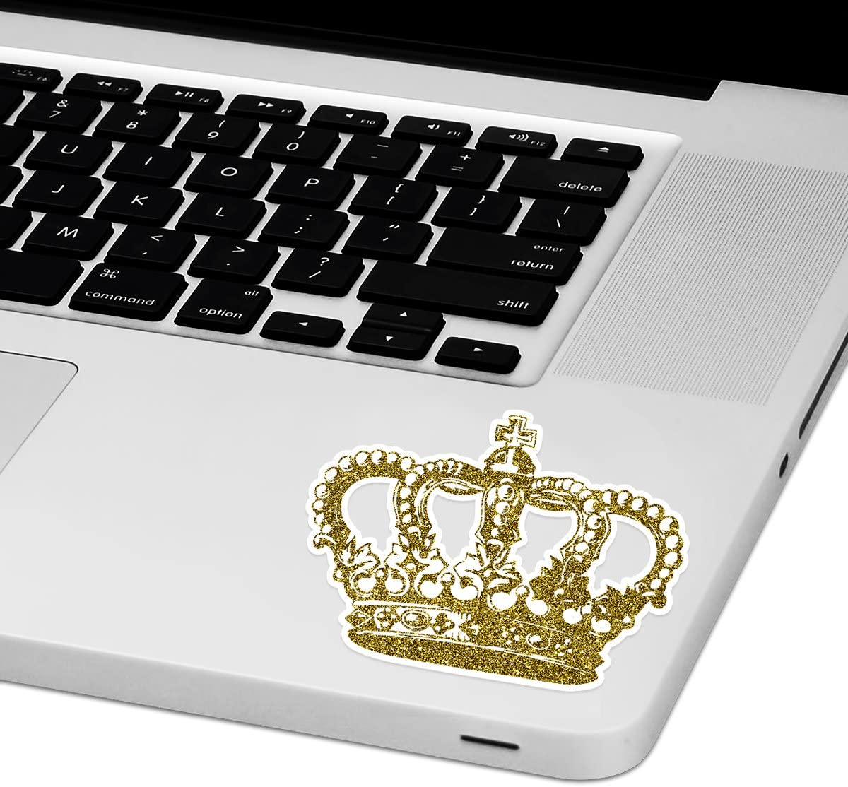 """Gold Crown Laptop Trackpad Sticker 3"""" Tall x 4"""" Wide"""