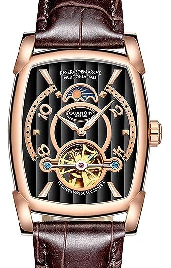 Exotic Design Skeleton Dial - Reloj mecánico automático de Lujo para Hombre: Amazon.es: Relojes