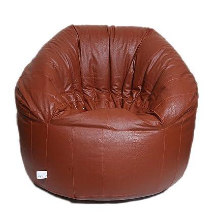 Maruti Fun Bags Leather Bean Bag Cover Without Beans Xxxl Amazon
