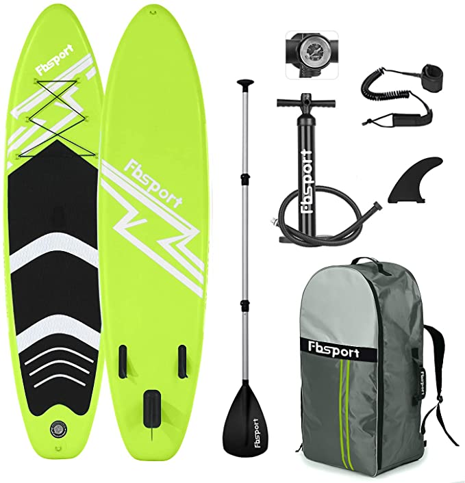 "AQUALUST 10/'6/"" SUP Board Stand Up Paddle Surf-Board aufblasbar Paddel Leash ISUP"