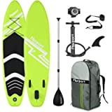 FBSPORT 10'/10.6' Premium Inflatable Stand Up Paddle Board, Yoga Baord with Durable SUP Accessories & Carry Bag   Wide…