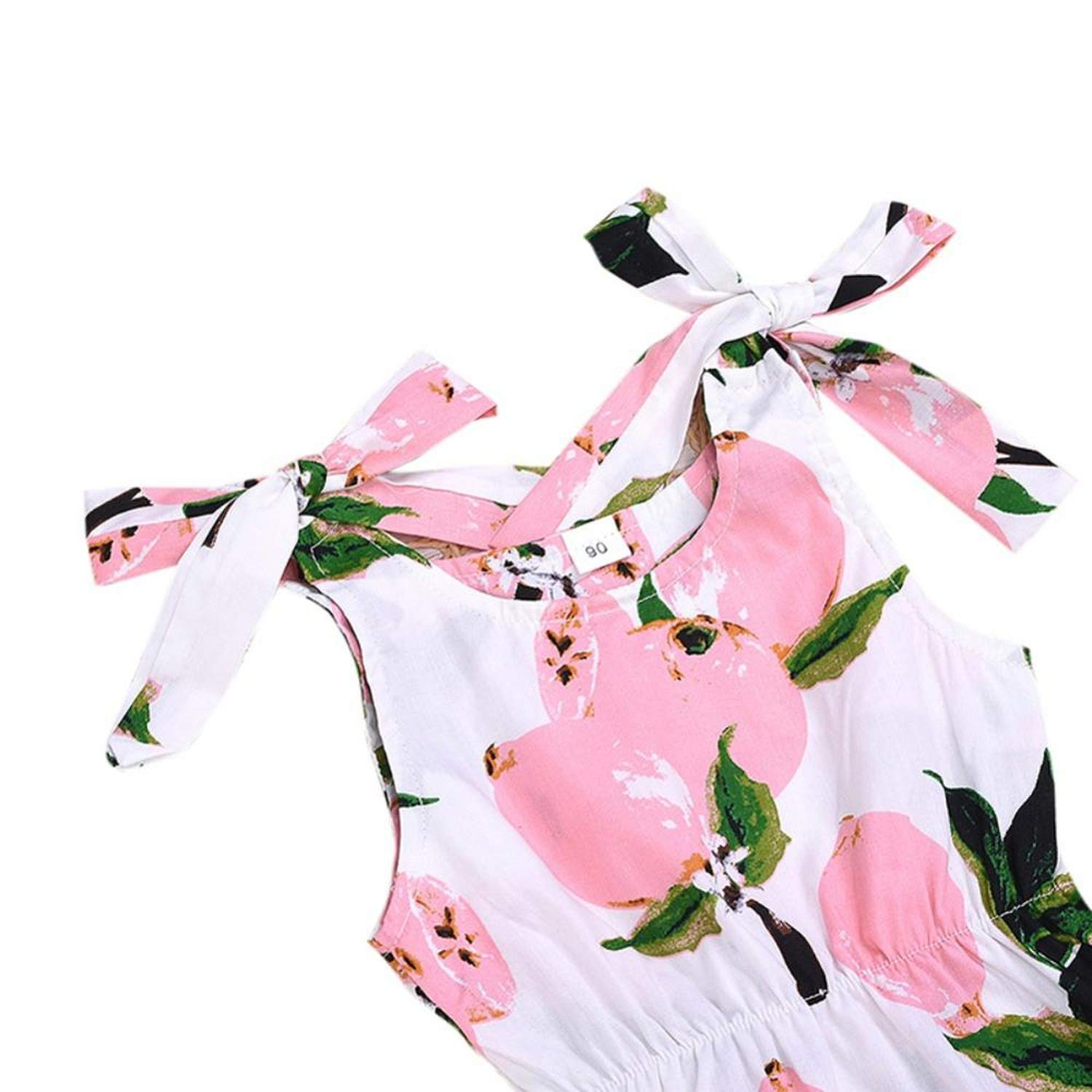 ChicLadies 0-24M Baby Newborn Girls Floral Pattern Jumpsuit Sleeveless Infant Casual Bodysuit Outfits