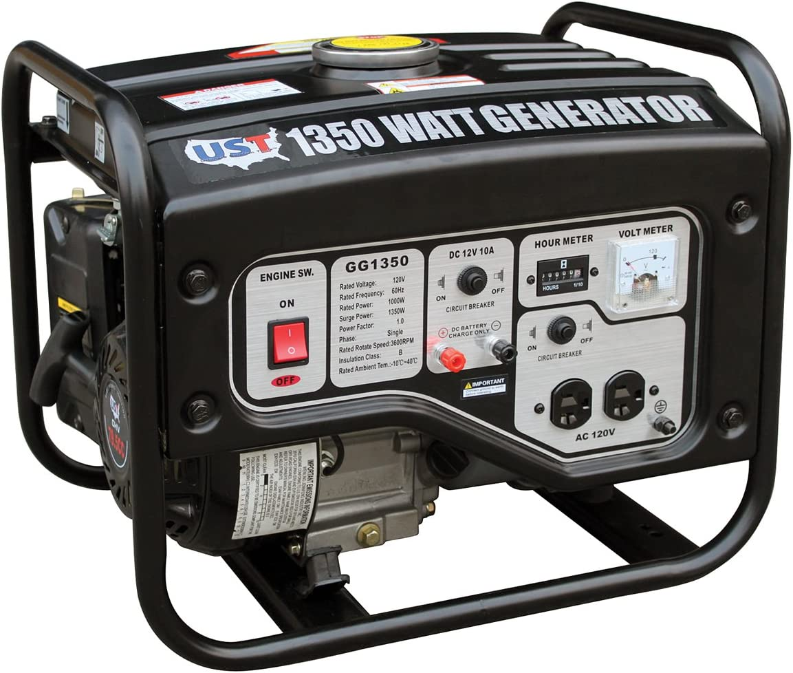 UST Tools GG1350, 1100 Running Watts 1350 Starting Watts, Gas Powered Portable Generator