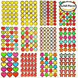 Keriber 6260 Pieces Teacher Reward Stickers Children Incentive Stickers with 12 Different Stickers Pattern for Home, Classroom or School Supplies …