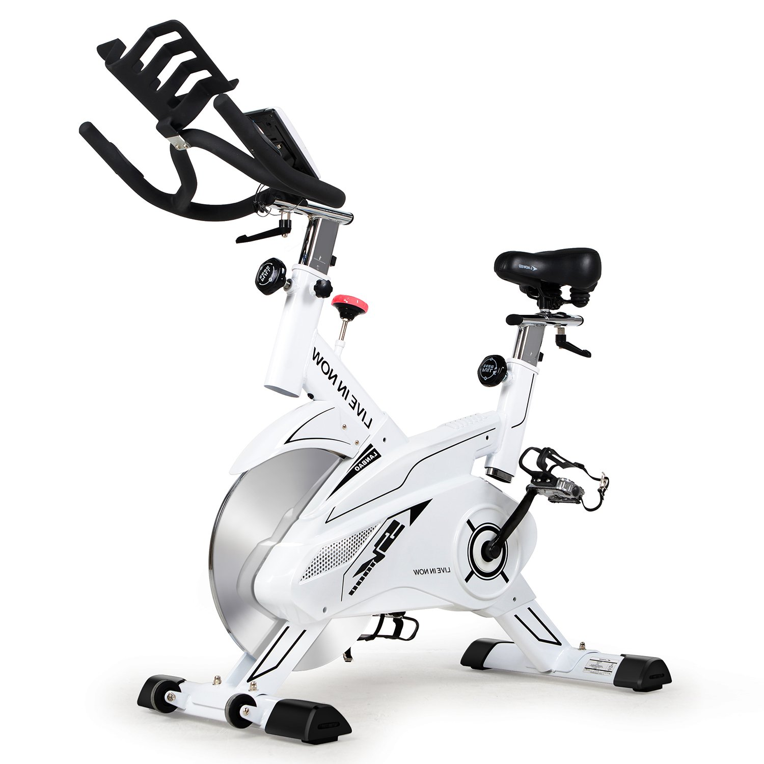 L NOW CycleFire LD-582 Health & Fitness Indoor Stationary Cycling Bike with Pulse for Aerobic and Cardio Exercise and Training(White) by L NOW (Image #1)