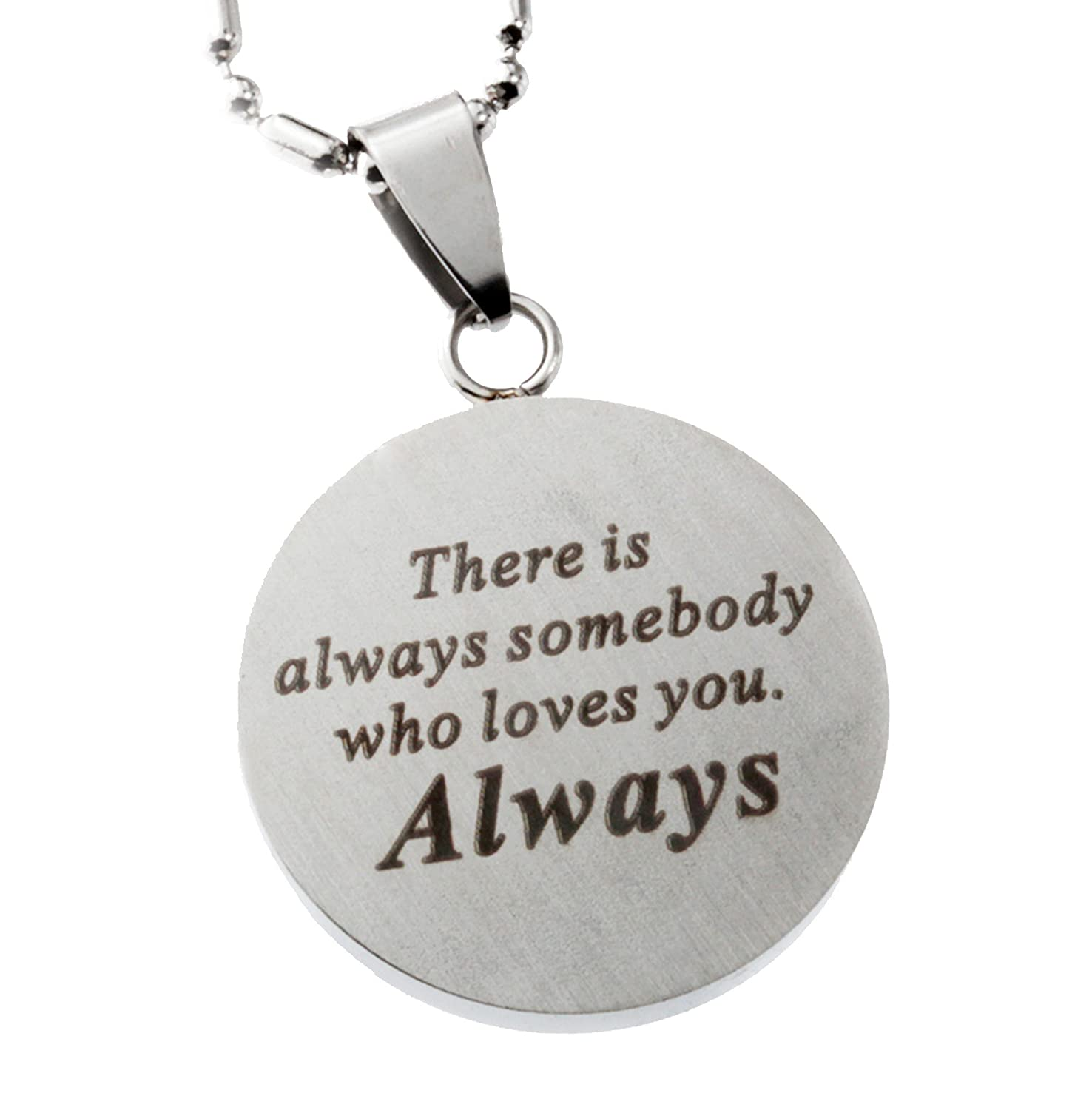 Jewelry Yin Yang Stainless Steel Pendant with Love Message R.H