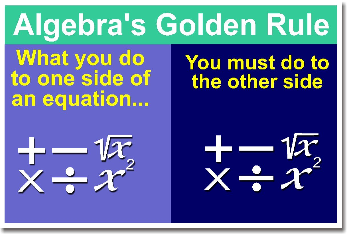Amazon Math Algebras Golden Rule Classroom Poster Prints Posters