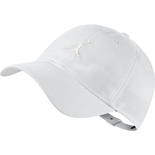 09deed34e11 Amazon.com  Jordan Jumpman Floopy H86 Adjustable Baseball Cap White ...