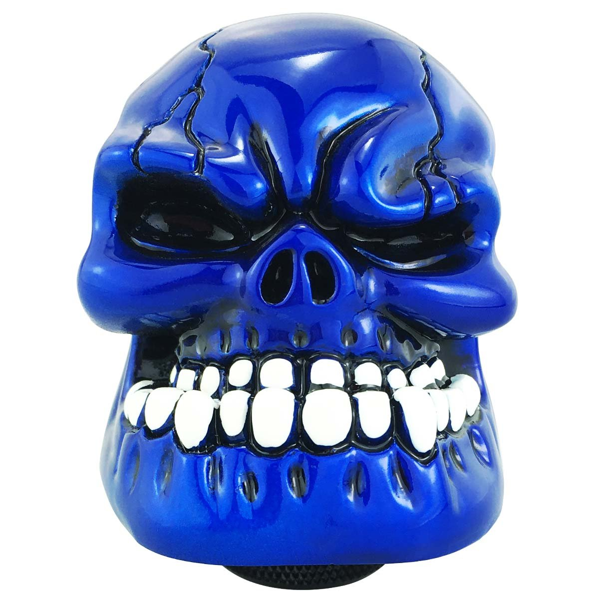 Abfer Universal Shift Knobs Skull Gear Stick Shifter Knob with Big Tooth Fit Most Automatic Manual Transmission Cars Silver