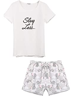 976c2877b1a LaLa Sleepwear Junior's Plus Size Tank and Shorts Pajama Set, 1X ...