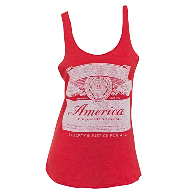 e7b5159d77492 Image Unavailable. Image not available for. Color  Budweiser America Label  Racerback Women s Tank Top ...
