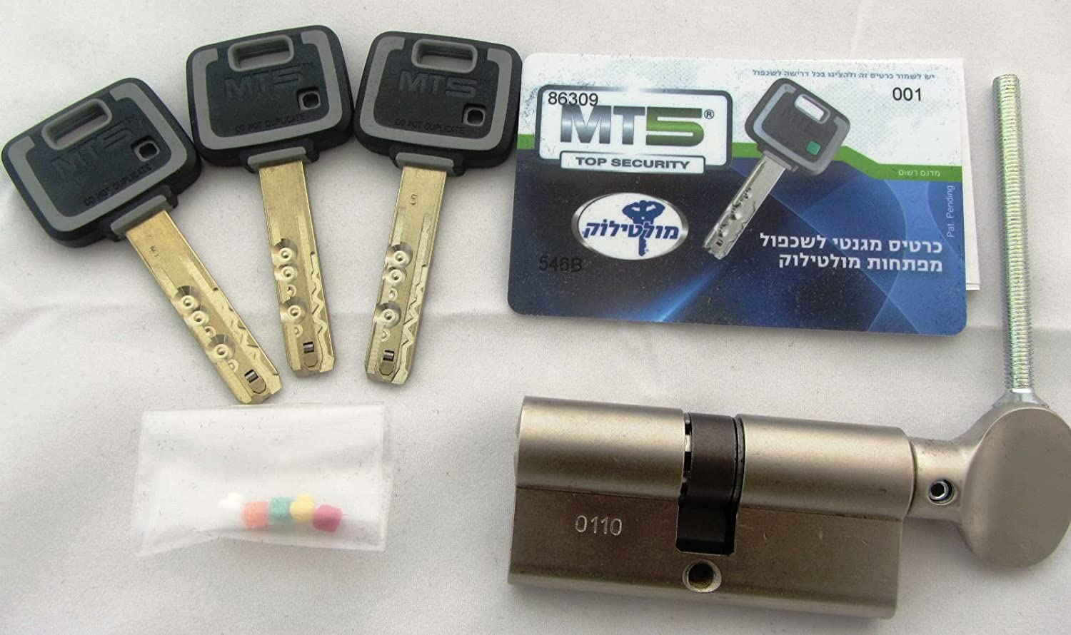 Mul T Lock Mt5 Euro Profile Cylinder With Thumb Turn Satin