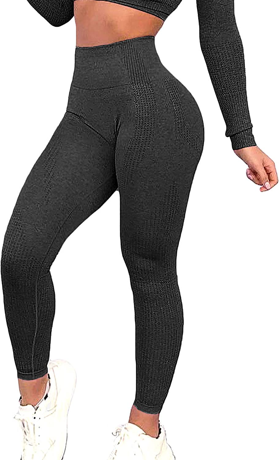 FITTOO Women's Seamless Leggings Ankle Yoga Pants Tummy Control Running Workout Tights