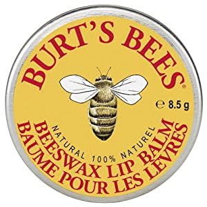 Burt's Bees 100% Natural Lip Balm Tin, Beeswax, 8.5 g