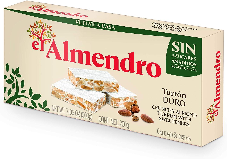 El Almendro Turrón Duro sin Azúcares Añadidos - 200 gr: Amazon.es: Alimentación y bebidas