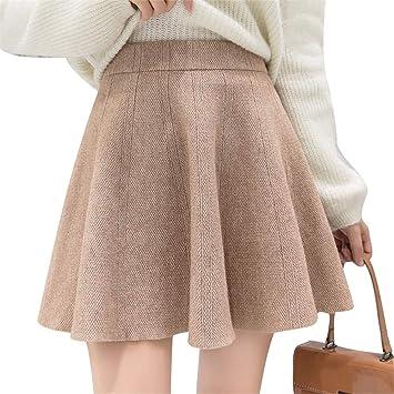 LLFUSM Punto Falda Media para Mujer Cintura Alta, Cadera, Falda ...