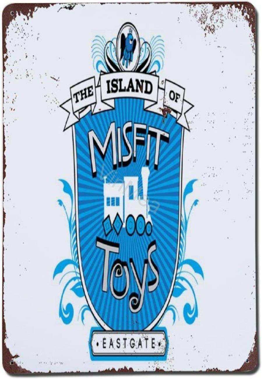 Vintage Retro Poster Metal Sign - Island of Misfit Toys Wall Decor for Coffee Bars Restaurants Pubs Man Cave 8