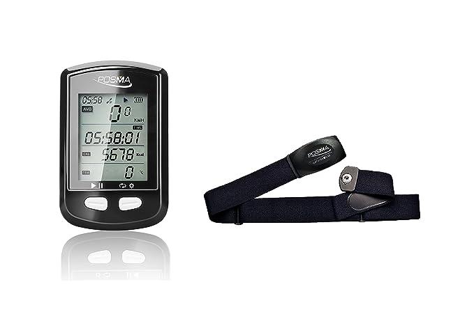 Cuentakilómetros y GPS de bicicleta de POSMA, con Bluetooth, DB2 ...