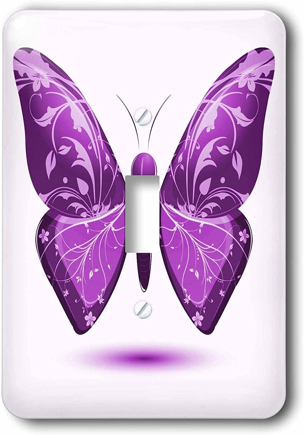 3drose Lsp 101576 1 Large Purple Butterfly With Flourish Wings Single Toggle Switch Multicolor Switch Plates Amazon Com