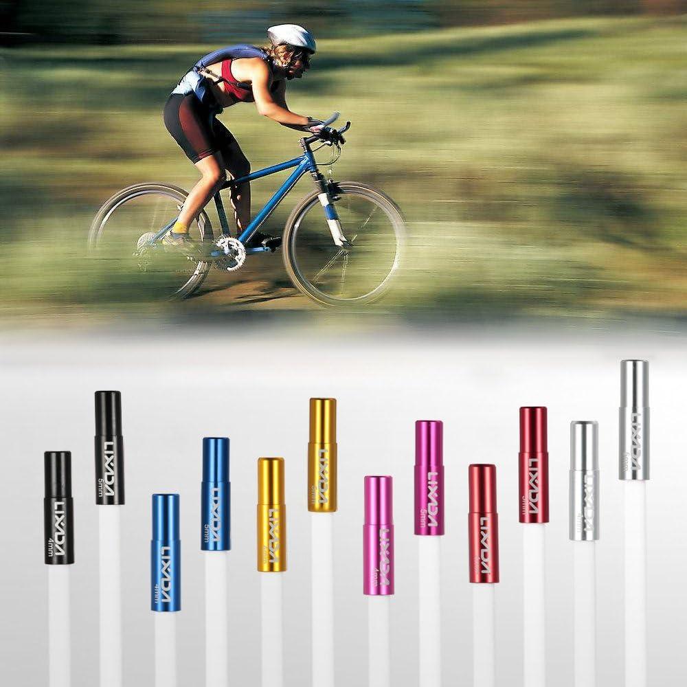 Lixada 10pcs 4mm / 5mm Bicicleta Desviador Cambio Freno Cable Final Tapa Recambio Set Aleación De Aluminio: Amazon.es: Deportes y aire libre