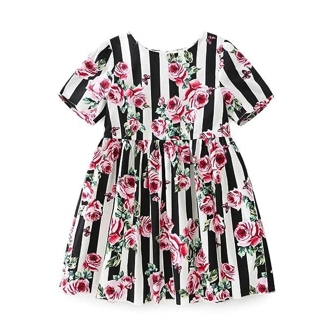 Amazon.com: sagton® Bebé vestidos, rayas de verano para ...
