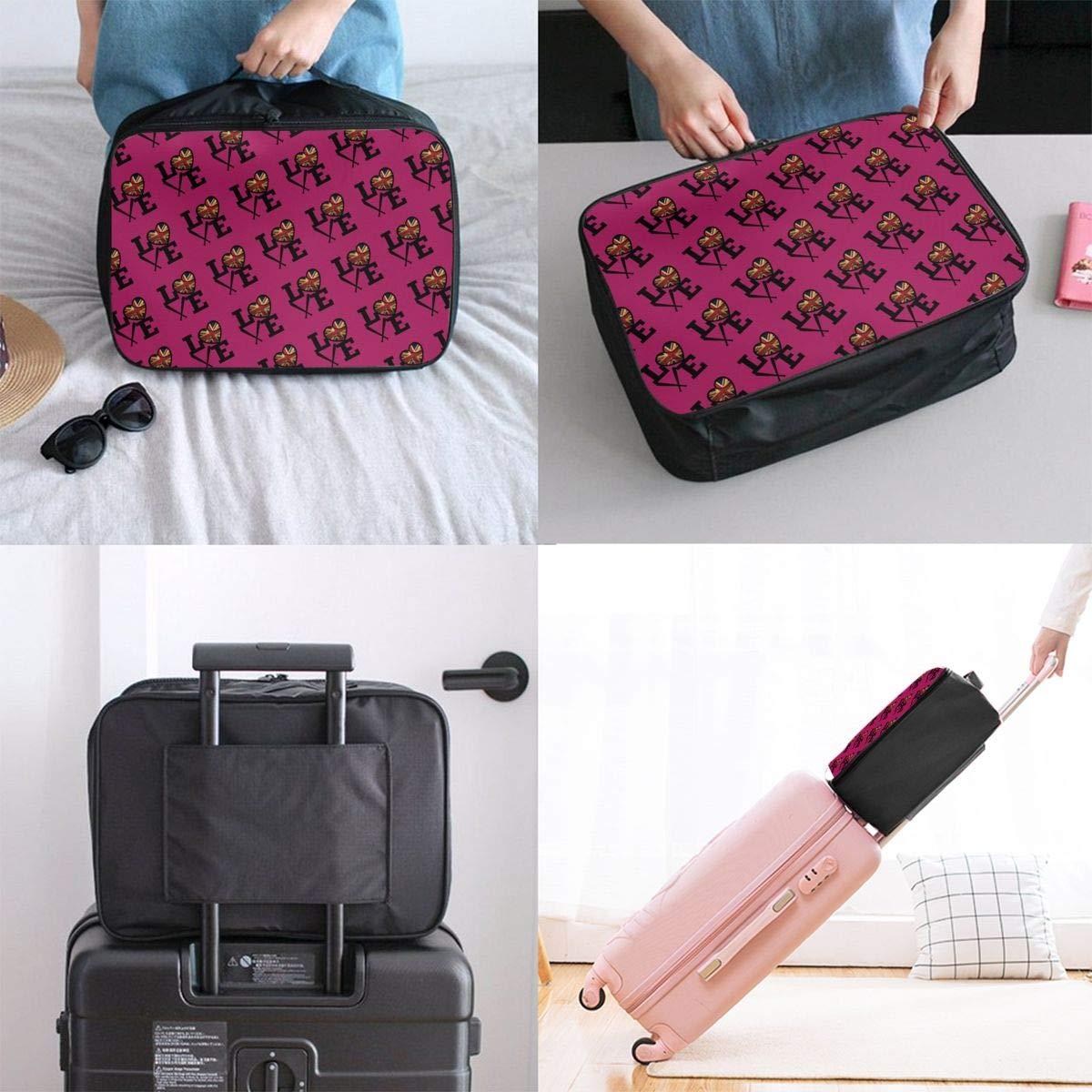 YueLJB Love UK British Flag Lightweight Large Capacity Portable Luggage Bag Travel Duffel Bag Storage Carry Luggage Duffle Tote Bag
