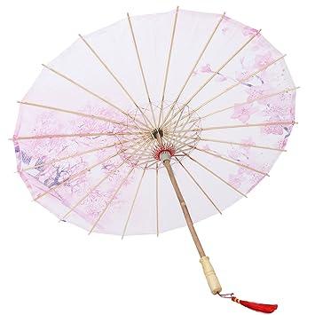 SUPVOX Paraguas del papel de aceite Paraguas chino clásico no artesanía a prueba de lluvia para
