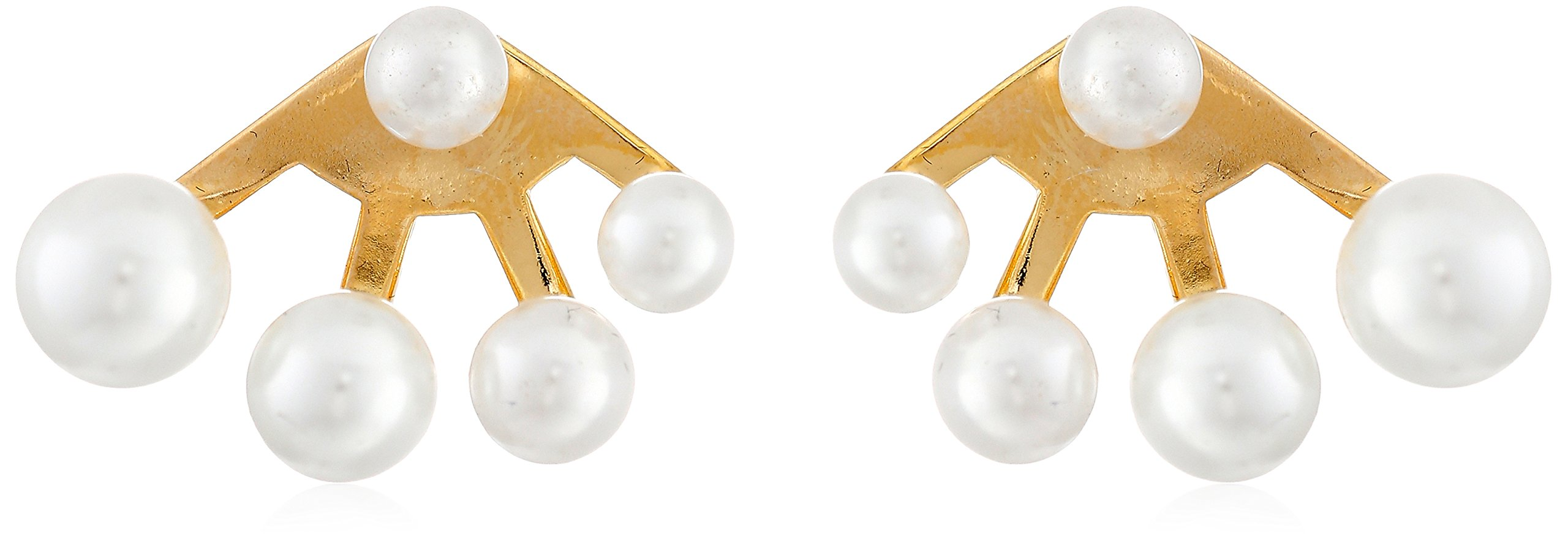 nOir Jewelry Sphere Multi-Pearl Earrings Jackets