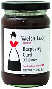 Welsh Lady Preserves All Butter Curd, Raspberry, 11 Ounce