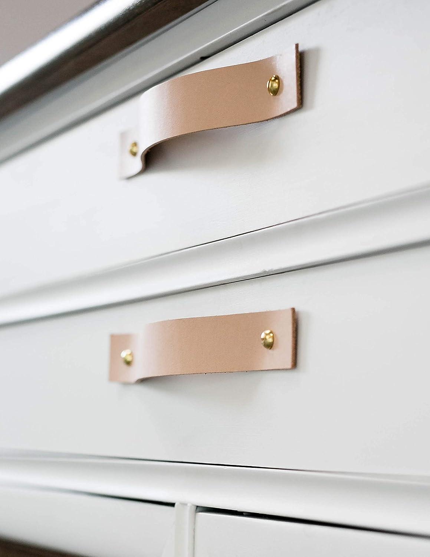 dresser door knobs kitchen decorative knobs Leather drawer pulls leather drawer handles furniture knobs cabinet knobs beige leather