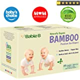 Best Bamboo Diapers | Eco-Friendly Hypoallergenic | Silky Soft w/Wetness Indicator Wicks Away Moisture to Keep Your Baby Dry & Happy | Premium High Quality | Size 3-4 | 15-28lb for Sensitive Skin 28ct