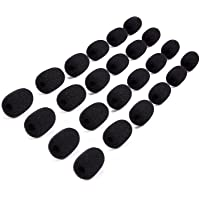 Mini parabrisas de micrófono – 24 unidades de funda de espuma para micrófono de solapa, lavalier, y micrófonos de…