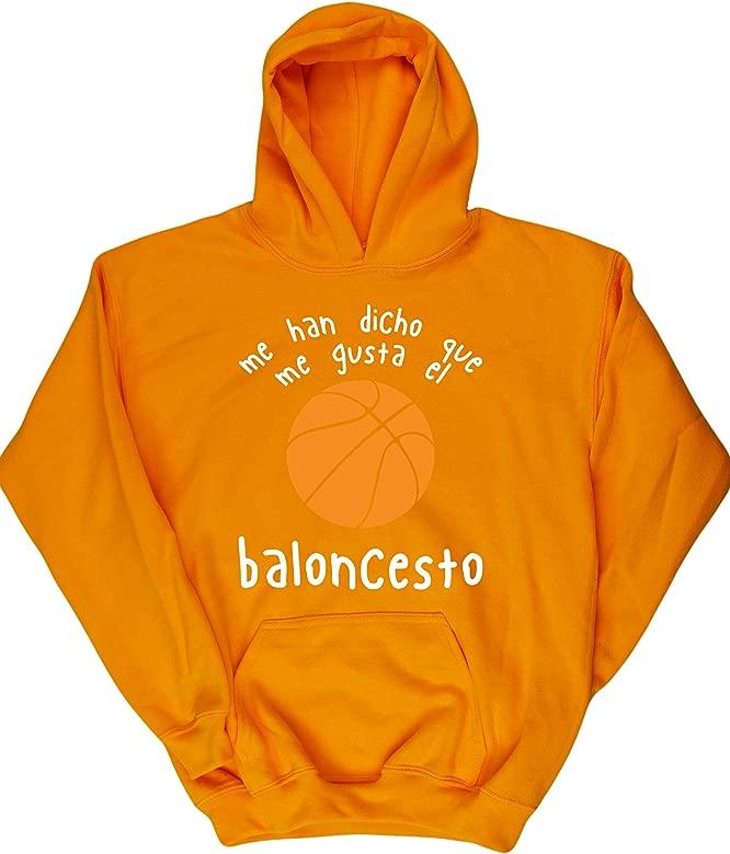 Hippowarehouse Me Han Dicho Que Me Gusta El Baloncesto Jersey Sudadera suéter Derportiva Unisex niños niñas