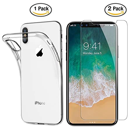 custodia iphone x vetro temperato