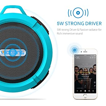 Amazon.com: VicTsing Shower Speaker, Wireless Waterproof Speaker ...
