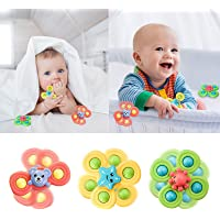 Audeals Suction Cup Spinning Top Toy - Safe Interesting Table Sucker Gameplay Early Learner Animal Toys Baby Bath Toys…