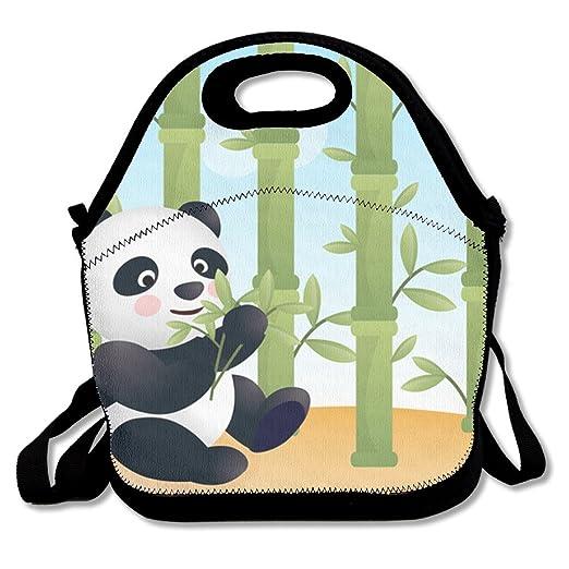 Panda con bambú bolsa para el almuerzo Cool: Amazon.es: Hogar